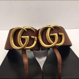 903c51bcff9ec Gucci Shoes - Gucci Marmont Logo Leather Thong Sandal